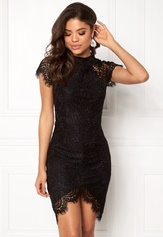 Girl In Mind Francis Lace Dress Black Bubbleroom.dk