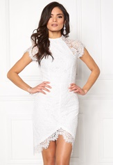 Girl In Mind Francis Lace Dress White Bubbleroom.dk