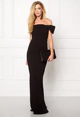 Goddiva Bardot Fishtail Maxi Dress Black Bubbleroom.se