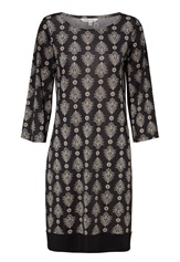 Happy Holly Belicia dress Black / Offwhite