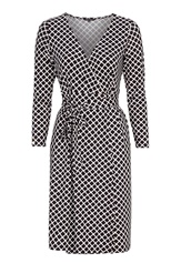 Happy Holly Millie wrap dress Black / Offwhite