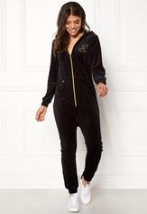 Happy Holly Nicole velour jumpsuit Black