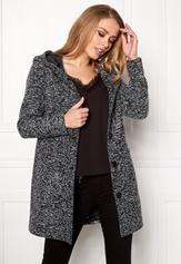 Happy Holly Teresia coat Black Bubbleroom.se