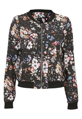 Make Way Emerly Bomber Jacket Floral