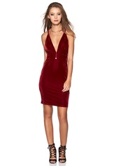Make Way Ines Dress Wine-red