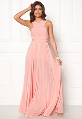 Goddiva Multi Tie Maxi Dress Oyster Bubbleroom.se