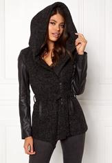 ONLY New Lisford Wool Coat Black Bubbleroom.se