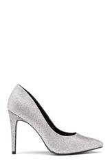 New Look Yummy Glitter Heel Silver