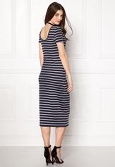 ONLY Abbie Stripe Calf Dress Night Sky Stripe