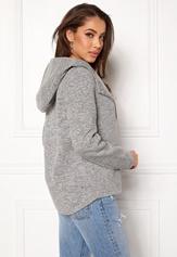 ONLY Fairy Mel Hooded Short Jacket Light Grey Melange