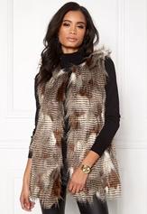 ONLY Laila Fur Waistcoat Demitasse Bubbleroom.se