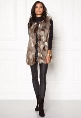 ONLY Laila Fur Waistcoat Demitasse