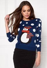 ONLY Pingu L/S Pullover Knit Night Sky Bubbleroom.se