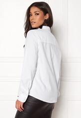 Pieces Irena LS Oxford Shirt Bright White