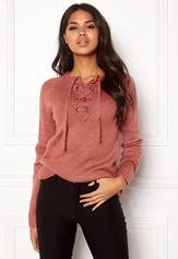 Rut & Circle Sofi Lace Up Knit Canyon Pink Bubbleroom.se