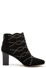 SARGOSSA Deluxe Suede Booties Black With Gold