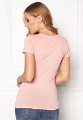 TOMMY HILFIGER DENIM Basic cn s/s T-Shirt 655 Silver Pink