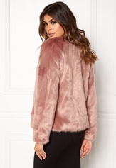 Twist & Tango Viola Faux Fur Jacket Rose