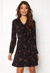 VERO MODA Parisan Short Wrap Dress Black Bubbleroom.fi