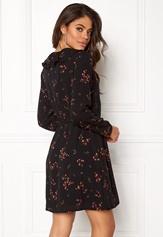 VERO MODA Parisan Short Wrap Dress Black