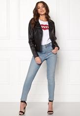VILA Cara Faux Leather Jacket Black