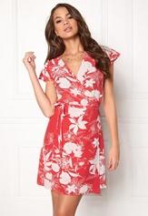 VILA Karman Wrap Dress Flame Scarlet Bubbleroom.fi