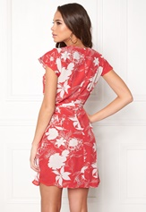 VILA Karman Wrap Dress Flame Scarlet