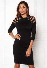 WOW COUTURE Dillon Sweater Dress Black Bubbleroom.dk