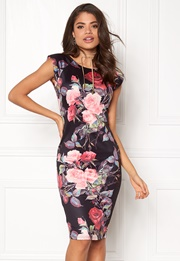 AX Paris Printed Sleeve Midi Dress