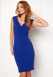 Goddiva Bardot Pleat Midi Dress