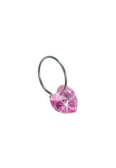 Blomdahl Blomdahl Caring Jewellery Natural Ear Ring Heart Rose (14mm)  Bubbleroom.se