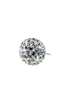 Blomdahl Blomdahl Caring Jewellery Natural Titanium Crystal Ball Black Diamond (6mm)  Bubbleroom.se