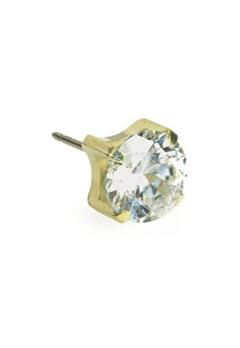 Blomdahl Blomdahl Gold Titanium Tiffany White (4mm)  Bubbleroom.se