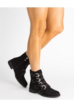 Glossy Boots, Agda Svart Bubbleroom.se