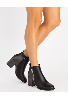 Glossy Boots, Git Svart Bubbleroom.se