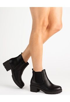 Glossy Boots, Jade Sort Bubbleroom.dk