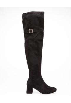Glossy Overknee støvler, Iris Sort Bubbleroom.dk