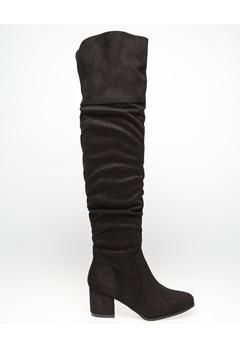 Glossy Overknee støvler, Polly Sort Bubbleroom.dk