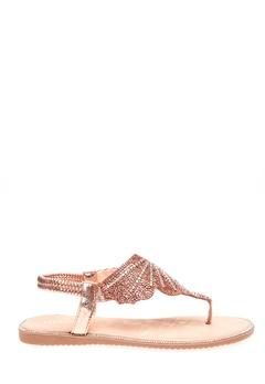 Glossy Sandaler, Dina Champagne Bubbleroom.se