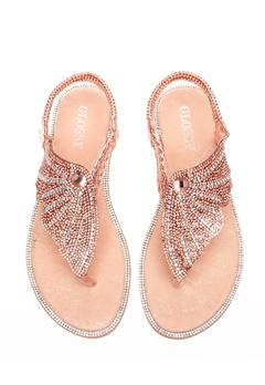 Glossy Sandaler, Dina Champagne Bubbleroom.dk