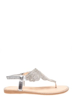 Glossy Sandaler, Dina Silver Bubbleroom.dk