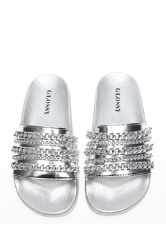 Glossy Sandaler, Fia Silver Bubbleroom.dk