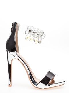 Glossy Sandaletter, Candy Silver Bubbleroom.se