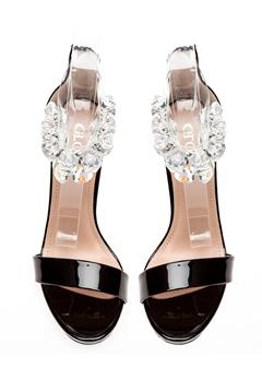 Glossy Sandaletter, Candy Svart Bubbleroom.se