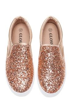 Glossy Slip-On Sneakers, Lotta Guld Bubbleroom.se