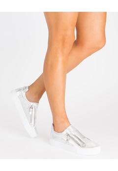Glossy Sneakers, Binny Silver Bubbleroom.fi