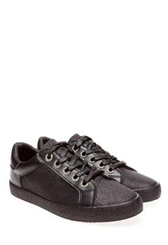 Glossy Sneakers, Kinna Svart glitter Bubbleroom.se