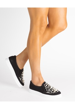 Glossy Sneakerit, Sandra Musta Bubbleroom.fi