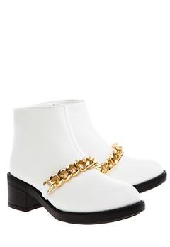 Have2have Boots, Allyson Vit och guld Bubbleroom.se