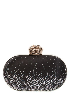 Have2have Clutch with a rope knob, Tove Black Bubbleroom.eu